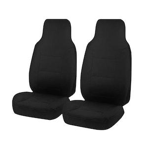 Challenger Car Seat Covers For Toyota Hiace Trh-Kdh Series Single/Crew Cab Lwb 2005-2019 | Black