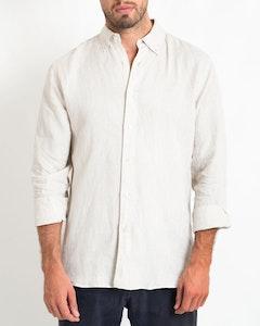 DESTii Natural Long Sleeve Linen Shirt