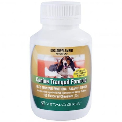 Vetalogica Canine Tranquil Formula for Dogs 120 Chewable Tablets