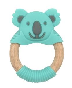 BibiLand BibiBaby Teething Ring - Kenny Koala - Mint and Grey