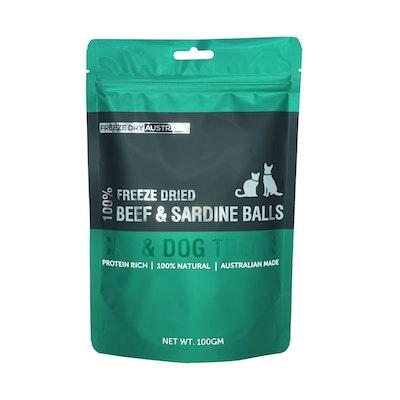 Freeze Dry Australia - Beef and Sardine Balls 100g