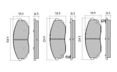 RDA EXTREME FRONT BRAKE PADS for Kia Sorento 2.5TD 3.5L V6 10/2006-2010-RDX2011