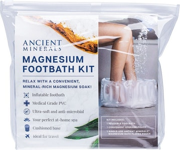 Boutique Medical Ancient Minerals Inflatable Magnesium Foothbath Kit with Mag Flakes