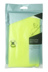 Basic Care Exfoliating Bath Towel Yellow