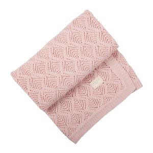 Jujo Baby Trellis Lace blanket - Blush Pink