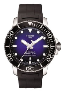 Tissot Seastar 1000 Powermatic 80 - Blue with Black Rubber Strap