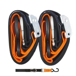 Gorillas Grip Snap Hook 38mm Tie Downs - Black / Orange