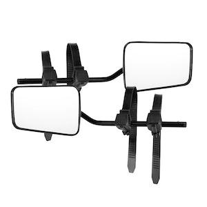 SAN HIMA SAN HIMA Pair Towing Mirrors Universal Multi Fit Clamp On 4X4 Caravan Trailer
