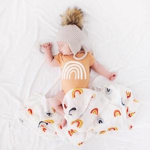 Bubba Bump Baby Rainbow Bamboo Muslin Wrap