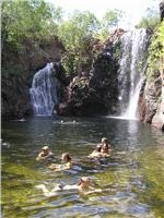 Florence Falls playtime for GoSeeAustralia Litchfield NT