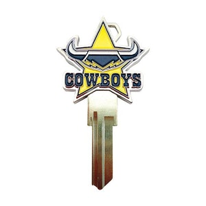 Creative Keys NRL Team Logo Key Blank TE2 - North Queensland Cowboys