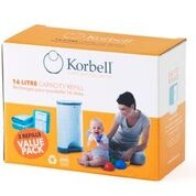 Korbell Nappy Disposal 16L Refill (3 pack)