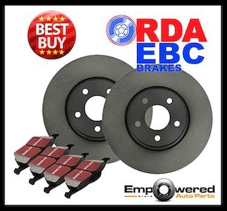 REAR DISC BRAKE ROTORS + PADS for Fiat Ritmo 1.4L T-Jet Turbo *281mm* 2008-2009