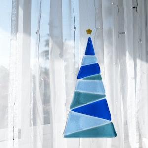 Ornament | Blue Christmas tree - large