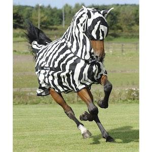 Buzz Off Zebra Full Neck Rug