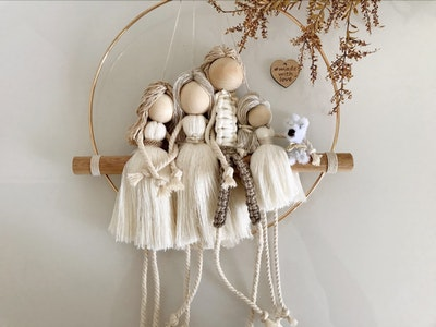 Sculptures of the Earth Macrame dolls (family dolls)