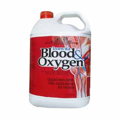 International Animal Health Iah Ironvita Blood & Oxygen Liquid Iron & Folic Acid for Horses - 2 Sizes