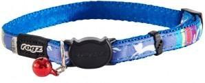 Rogz Collar Safeloc Neocat Blue Candy