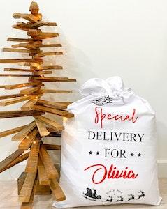 Special Delivery Santa Sack - Cursive Font