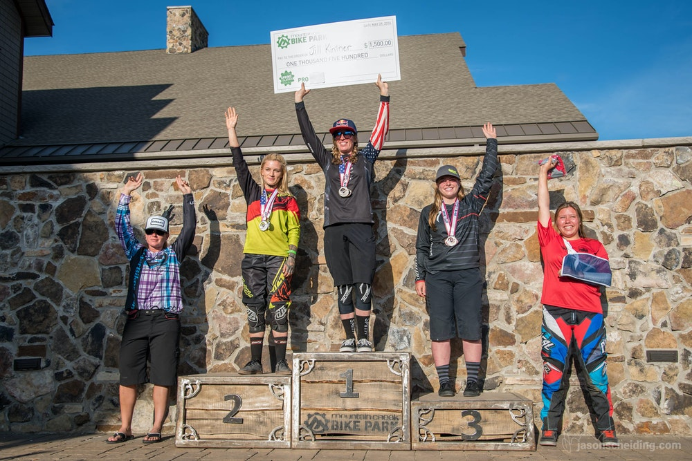 Mountain Creek DH RoundWomens podium   1
