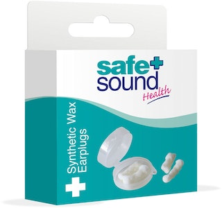 Safe + Sound Synthetic Wax Ear Plugs 6 Pairs