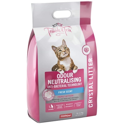 Trouble N Trix Trouble & Trix Odour Neutralising Crystal Cat Litter  7L