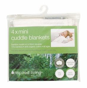 Inspired Mother Muslin Mini Blanket 4pk