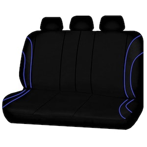 Universal Strident Rear Seat Covers Size 06/08S | Blue Piping