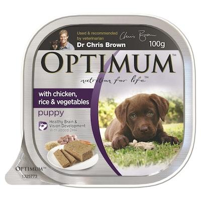Optimum Wet Dog Food Puppy Chicken Rice & Vegetable 100g
