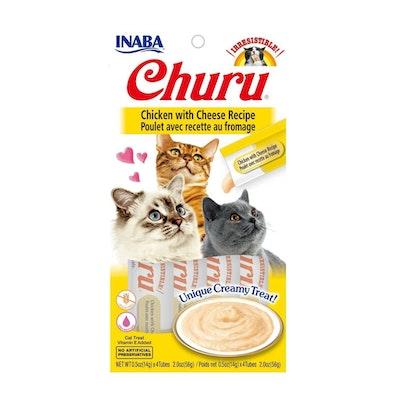INABA Churu Creamy Cat Treat Chicken w/ Cheese Recipe 6 x 56g