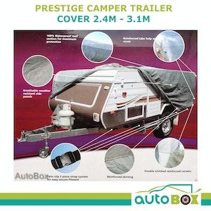 Prestige CAMPER TRAILER COVER 2.4 - 3.1M (8 - 10 feet) suit Tray SLIDE ON Camper