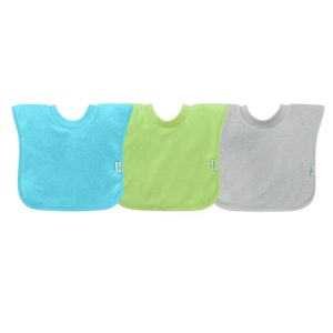 green sprouts Pull-over Stay-dry Toddler Bib (3pk)-Aqua Set-9/18mo