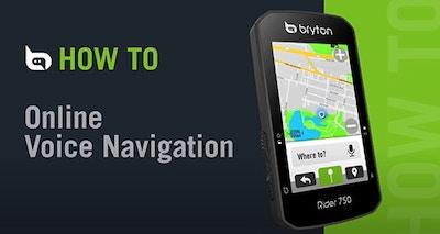 Bryton Rider 750 | Online Voice Navigation