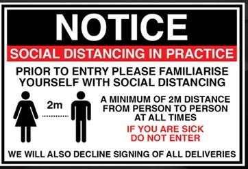 Notice Social Distancing in Practice Poly