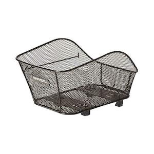Basil Icon Small Rear Basket Black