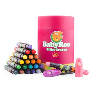 JarMelo SILKY WASHABLE CRAYON -BABY ROO 24 COLORS