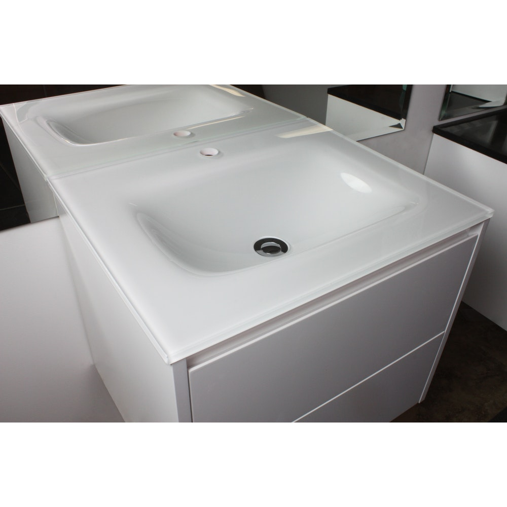 aurora white glass vanity top 600mm bathroom vanity tops for sale in summer hill. Black Bedroom Furniture Sets. Home Design Ideas