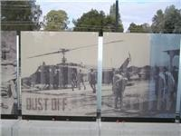 Dedicated Unhesitating Service To Our Fighting Forces (Dustoff) Huey copters.