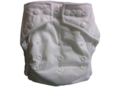Hippybottomus Stay Dry Bamboo Cloth Nappy - White