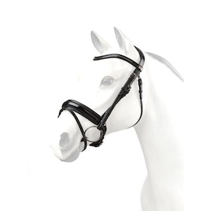 Equipe Snaffle Bridle - Patent Bling Browband  - BR64