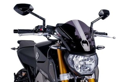Puig Naked New Generation Sport Windshield To Suit Yamaha MT-09 2013-2016 (Dark Smoke)