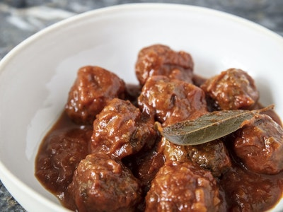 Polpette in Sugo, Beef Meatballs, Tomato. Serves 2.