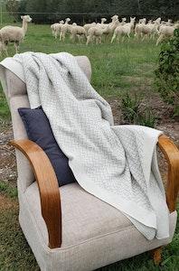 Luxurious Herringbone Alpaca Blanket