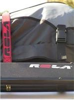 Rola rachet tie-down hooks on luggage  tray front cross  bar anchor point.