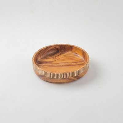 Kayu&Co. Rural Artisan Hand-Carved Wooden Bowl - Large