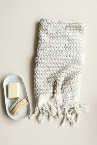 Pom Pom Hand Towel - Pale Grey