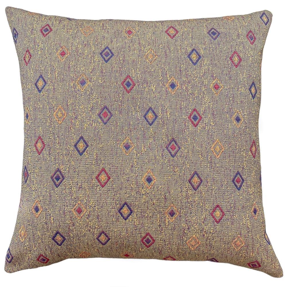 The Cushion Maven Handmade Cushion - Woven Diamond Tapestry