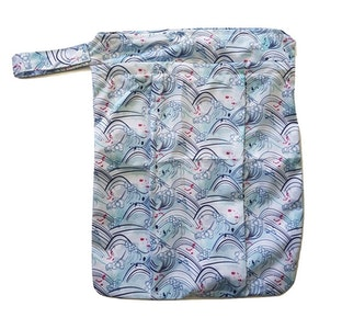 Premium Double Pocket Wetbag: Curl