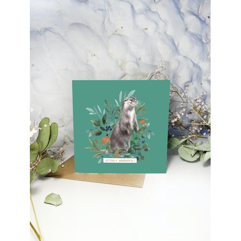 Laura Elizabeth Illustrations Otter Greetings Card
