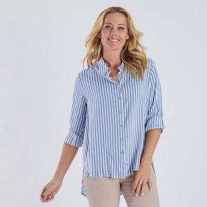 Gordon Smith Blue Striped Shirt
